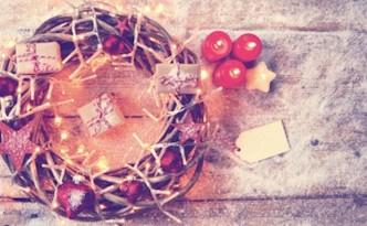 Grukarte - Weihnachtsstimmung - Weihnachten - Kranz